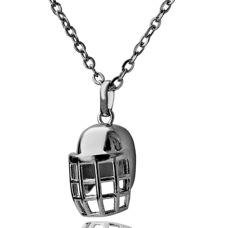 Rugby Helmet Pendant Choker Necklace for Women American Football Lovers Gun Black Plated Sports Jewelry 10pcs Wholesale