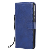 For Huawei Y7 2019/Y7 Pro Prime 2019/Enjoy 9 Case Flip Cover Wallet Stand Pure Color PU Leather Mobile Phone Bags