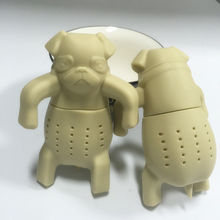 Кружку мопс заварки фильтры чая силикона каваи собака прекрасный чай портативный