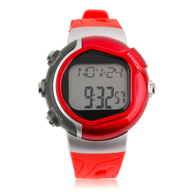 Waterproof Infrared Digital Heart Rate Monitor Watch 0925 Real Time Sport Calorie Tester Men Women Wristwatch free shipping