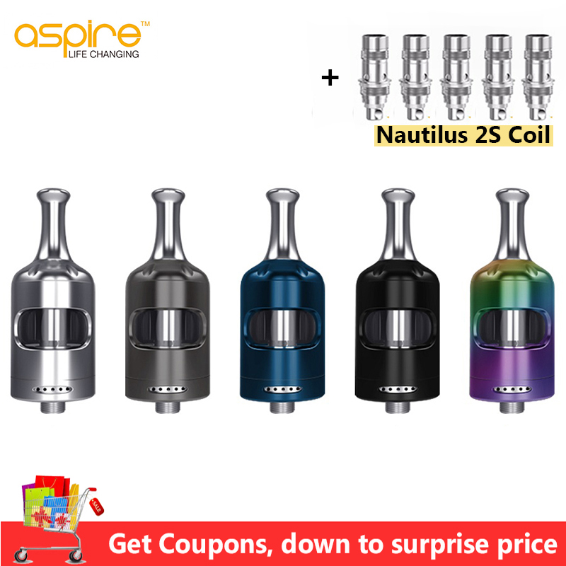 Electronic Cigarette Atomizer Aspire Nautilus 2S Tank 2 6ml Vape Tank with Nautilus BVC Coil vs