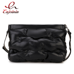 Alta qualidade para baixo espaço travesseiro design de couro do plutônio das mulheres saco de embreagem envelope crossbody saco do mensageiro bolsa designer bolsa