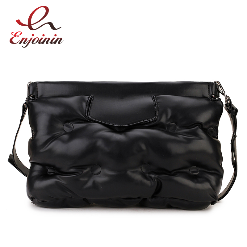 High Quality Down Space Pillow Design Pu Leather Women Clutch Bag Envelope Crossbody Messenger Bag Handbag Designer Bag Bolsa