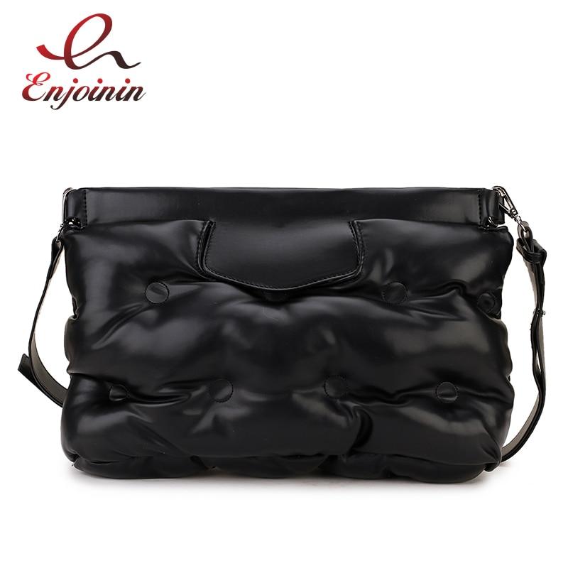 High Quality Down Space Pillow Design Pu Leather Women Clutch Bag Envelope Crossbody Messenger Bag Handbag Designer Bag Bolsa