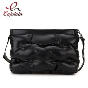 Image 1 - 높은 품질 아래로 공간 베개 Pu 가죽 Crossbody 메신저 가방 어깨 가방 지갑과 핸드백 여성용 클러치 백 봉투
