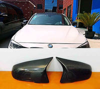 F30 Side Wing Rearview Mirror Cover Caps M3 Style for BMW F30 13 15 Carbon Fiber