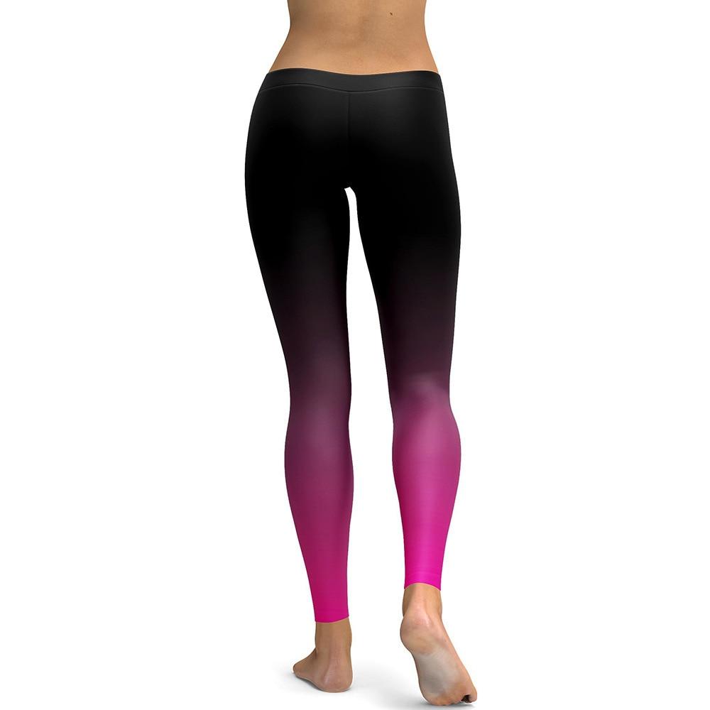 8755d86ae2da9 Gradual Black Pink Gothic Print Leggings Women Leggins High Waist Elastic  Fitness Leggings Push Up Workout Leggings Plus Size-in Leggings from Women's  ...