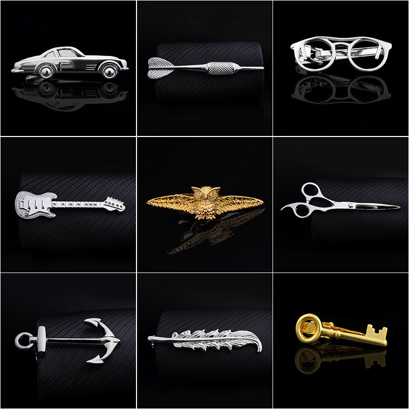 Clip-Bar Jewelry Clasp-Clamp Necktie Pin Wedding-Charm Pure-Copper High-Quality Gifts