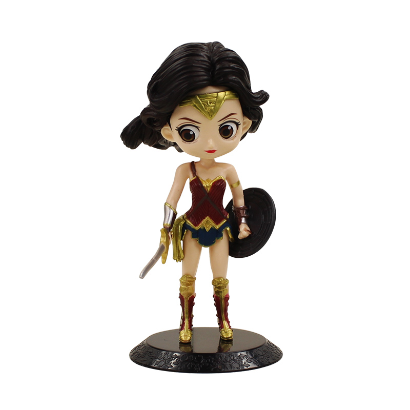 6.3'' Q Posket Wonder Woman With Shield Sword PVC Action Figure Justice League Collection Model Doll Toys For Kids