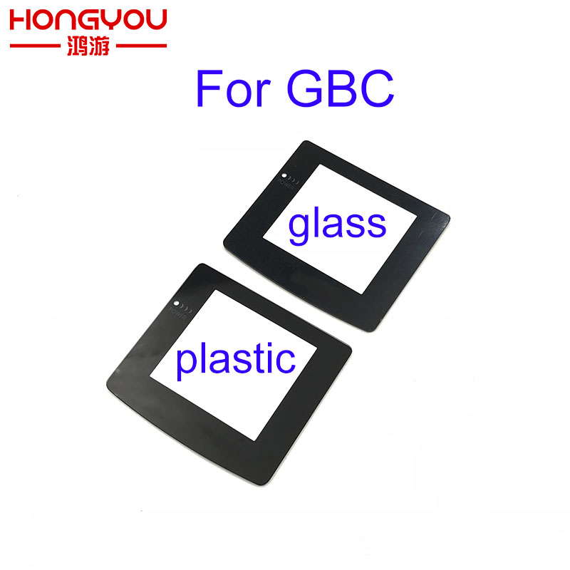 100pcs for GameBoy Color Glass plastic Protection Panel Replacement Screen Lens Protector For GBC