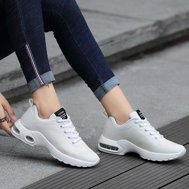 Respirant Shoes Sneakers Casual Appartements Shoes white red Mode Cuir Automne Chaussures Femmes En Shoes Souple Belle Printemps Black vwTndqH