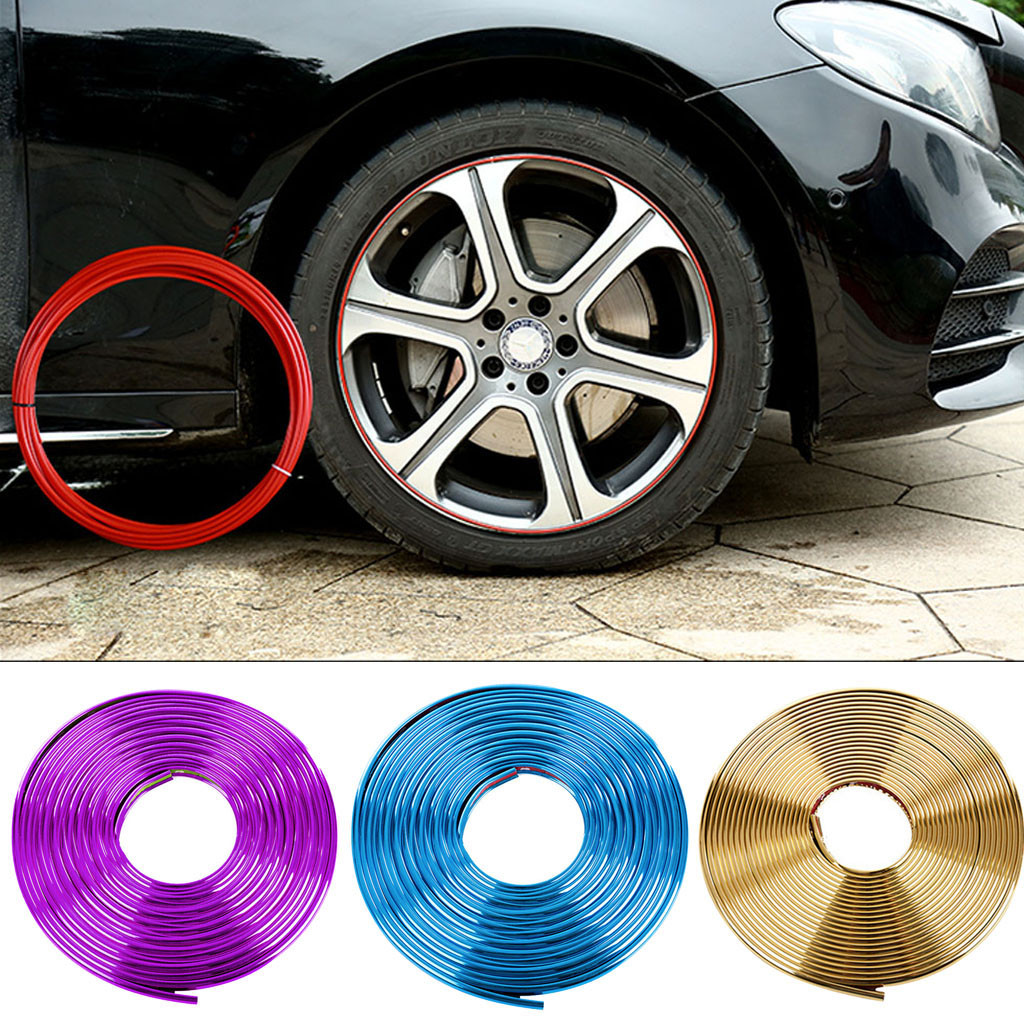 Image 2 - Car decoration strips 8M Car Interior Decor Wheel Edge Protector Ring Tire Strip Guard Rubber Sticker  Car Accessories styling-in Car Stickers from Automobiles & Motorcycles