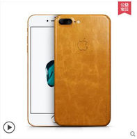For Iphone 7 Plus Case Genuine Leather Paste 360 Degree All Leather Leather Back Cover For