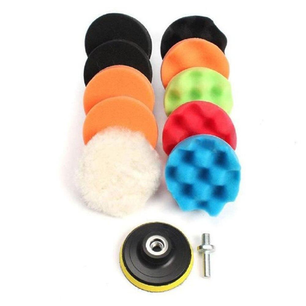 Полирующая пена Автомобиль буфера 4 дюйма автомобиль губка для полировки автонакладка комплект 12 шт./компл. многоцветный полировки губка для полировки
