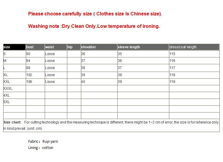 Zomer De Nieuwe Chinese Ruyi garen borduurwerk cheongsam jurk geel Zeven kwart mouw elegante mode Losse jurk S 2XL - 6