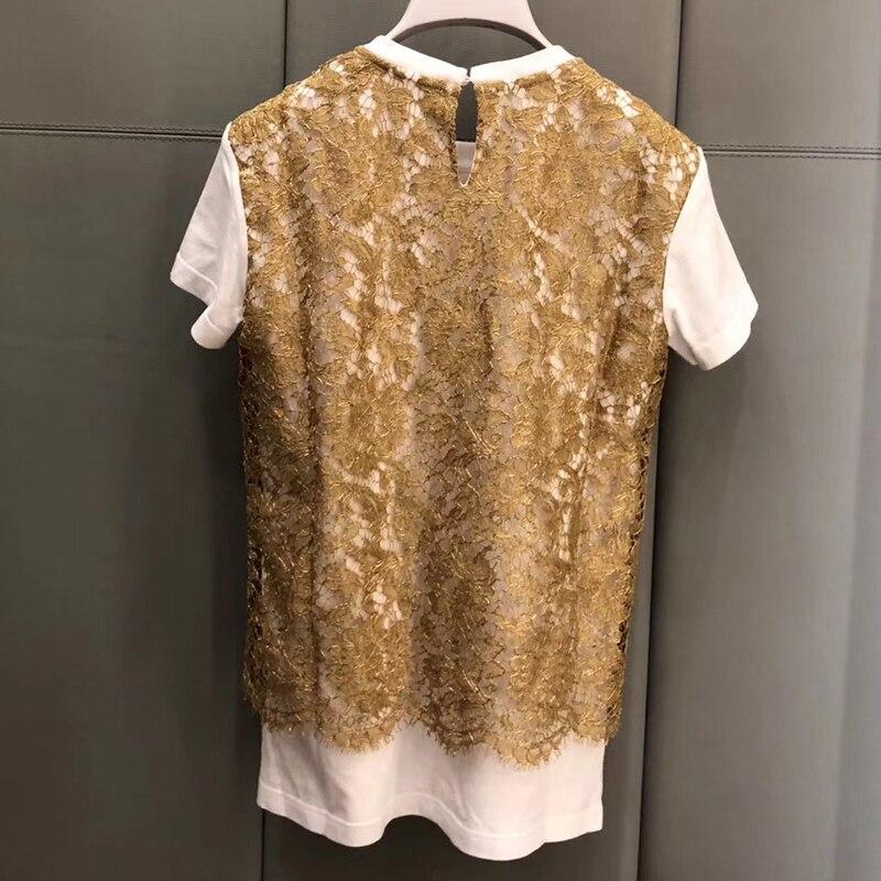 Pour Décontracté Courtes 2019 Coton Élégant En Manches Mode Chemises Femmes Femme Nouveau Hauts Imprimer qqHw0AU6