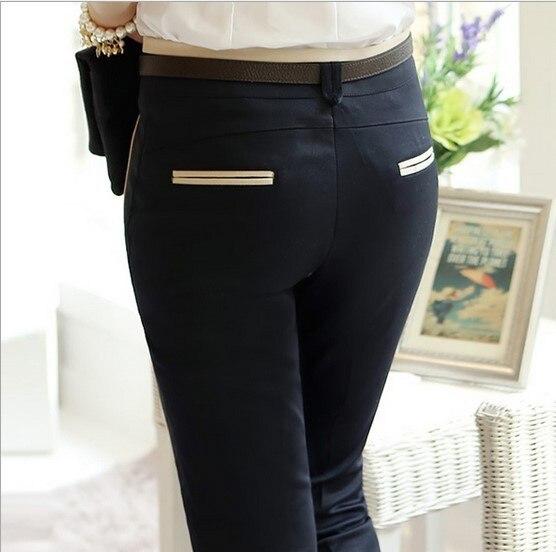 2016 New Stylish Ladies Formal Wear Office Suits Work Pants Black Beige Women Business Cargo Pants Dress Pantalon S XXXL