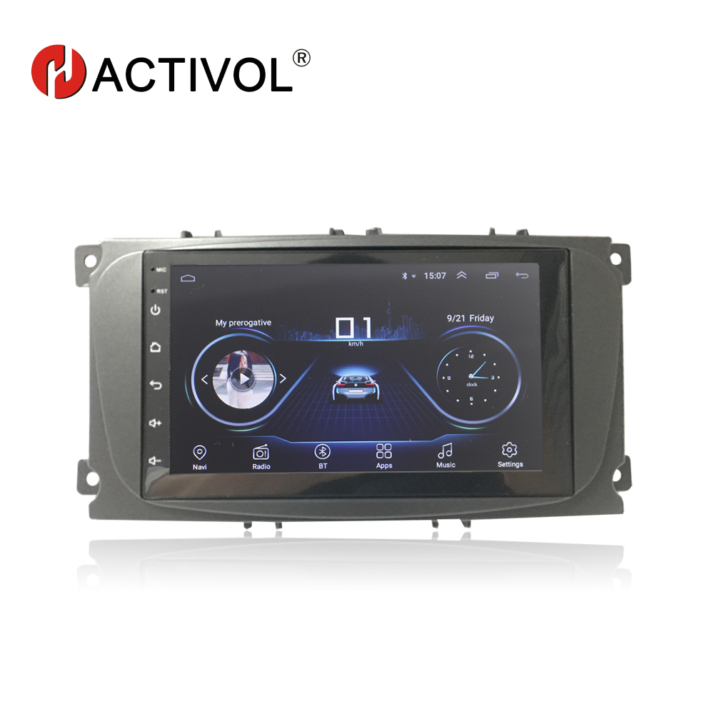 Hactivol 2 din car accessories car radio stereo for Ford Focus 2 mondeo Kuga C max