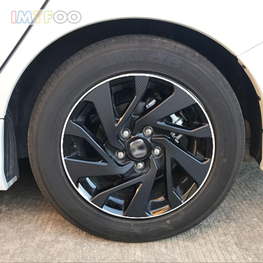 Imtfoo Black Carbon Fiber Vinyl Wrapping Wheel Rim Decal