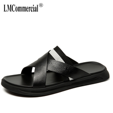 Genuine Leather slippers men's summer sandals Sneakers Men Slippers Flip Flops casual Shoes beach outdoor all-match cowhide все цены