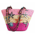 2016 Summer New Arrival Starry Straw Bag Women Woven Handbag Lady Beach Bag Starfish Pattern Shoulder Bag