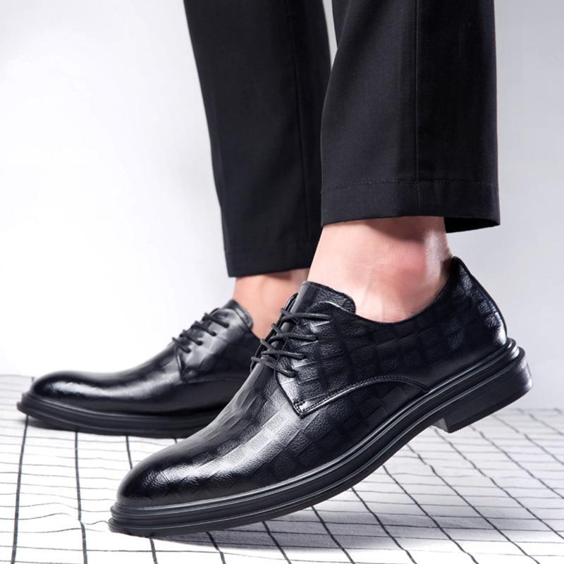 New Fashion Men Business Shoes Brand Man Brogue Shoes Men Casual Shoes Black Footwear A1665