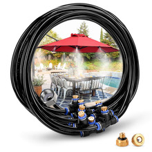 8M Outdoor Misting Cooling System Kit Greenhouse Garden Patio Waterring Irrigation Mister Line System Spray Cooling Nozzle Kits