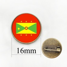 Dominican CountryCosta Rica Badges Brooch Country Flag Pattern Lapel Pins  GrenadaCuba Badge Glass Brooches Party Gift