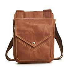 Quality Original Leather Male Casual Shoulder Messenger bag Cowhide Fashion Crossbody Bag Pad Tote Satchel