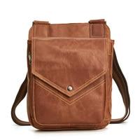 Quality Original Leather Male Casual Shoulder Messenger bag Cowhide Fashion Crossbody Bag Pad Tote Satchel bag