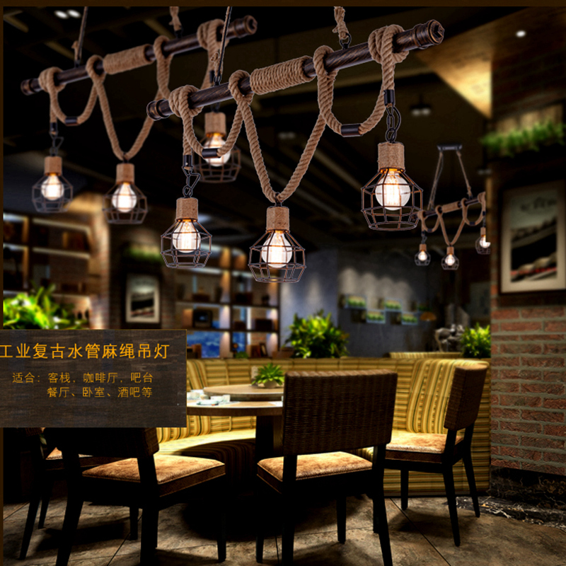 personality pendant lights American country retro three head rope pendant lamp Restaurant Bar Cafe creative TA10175 nordic american country retro restaurant cafe lighting fixtures hemp rope creative personality artistic single head pendant lamp