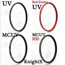 KnightX UV MCUV HD filter for sony nikon canon dslr camera lens accessories fotografie objectif p500 49 52 55 58 62 67 72 77 mm