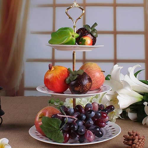 3-Tier Pernikahan Pesta Ulang Tahun Kue Piring Stand Permen Tray Cupcake Display Tower!