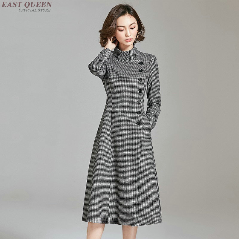 Business dress for women office ladies korean style luxury dress for work autumn winter dress 2018 AA3994