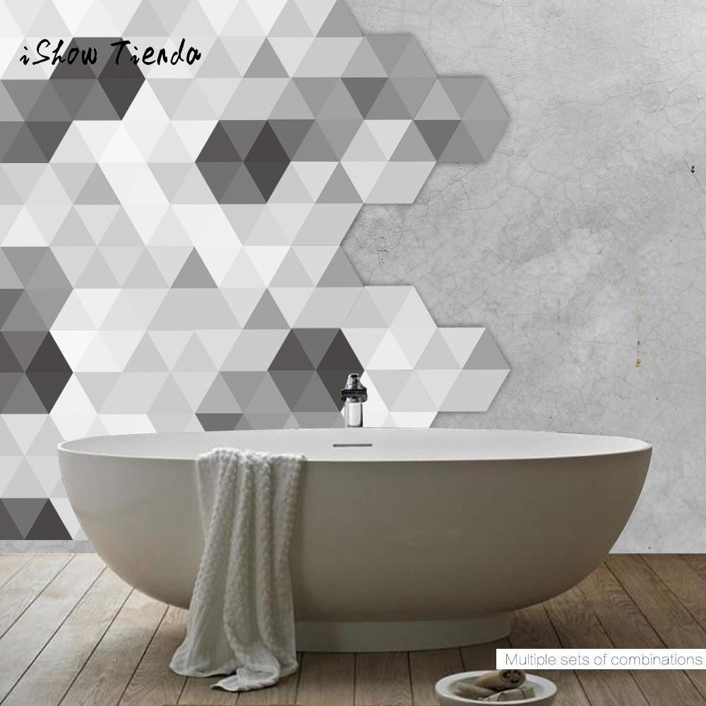 10PCS Rhombus Vinyl Floor Wall Decal Sticker DIY Patchwork Modern ...