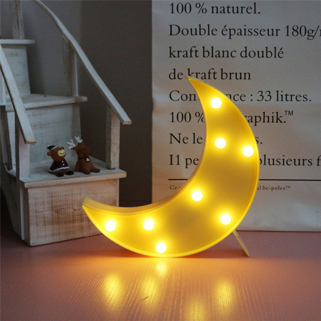 Novelty Moon Night Light Children Bedroom Nursery Lamp Mini Hanging On Wall Emitting Baby
