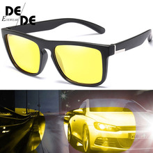 The New TR90 Polarized Sunglasses with Case Women Square Driving Sun glasses Men UV400 Night Vision