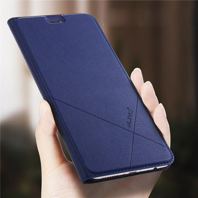 XiaoMi Redmi Note 5 Cas ALIVO D'affaires Série En Cuir Flip Cas de Couverture pour XiaoMi Redmi Note 3 4 4X 5A note5 Pro Couverture de Téléphone
