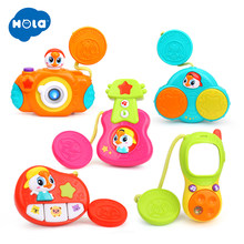 HUILE TOYS 3111 Baby Carriage Stroller Bar Musical Toy Sets Educational Mobile Telephone / Camera / Drum / Guitar Baby Rattles(China)