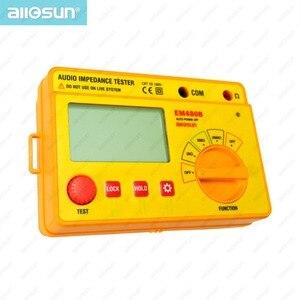 Тестер звукового сопротивления ALL SUN EM480B, портативный измеритель сопротивления CATIII, диапазон 20/200/2000, функция таймера 1 кГц, хранение данных