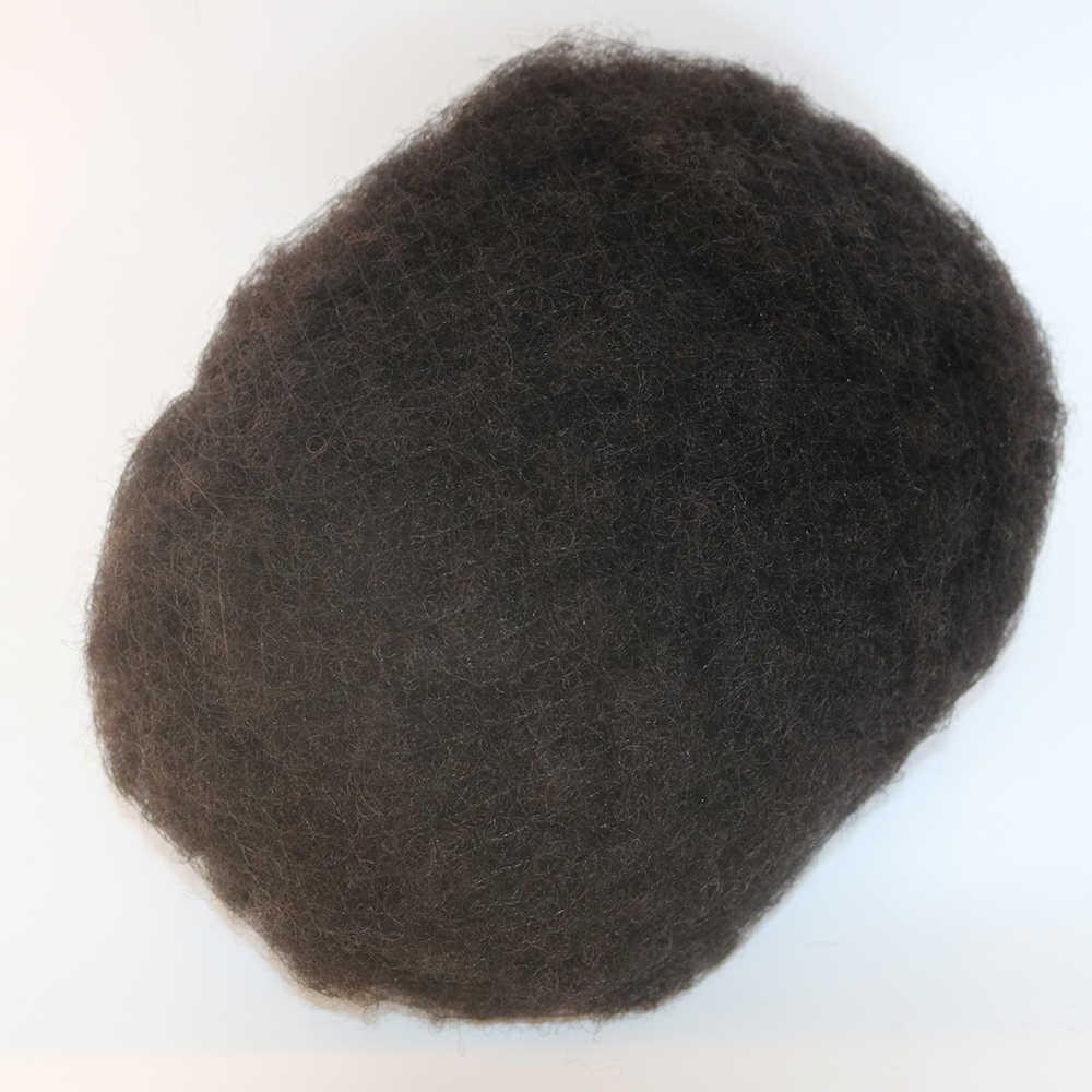Peluquín Afro everseky para hombre negro Remy cabello humano All Lace Man Weave Balding para hombre Unidad de cabello personalizada 8 x pelo macho de 10 pulgadas