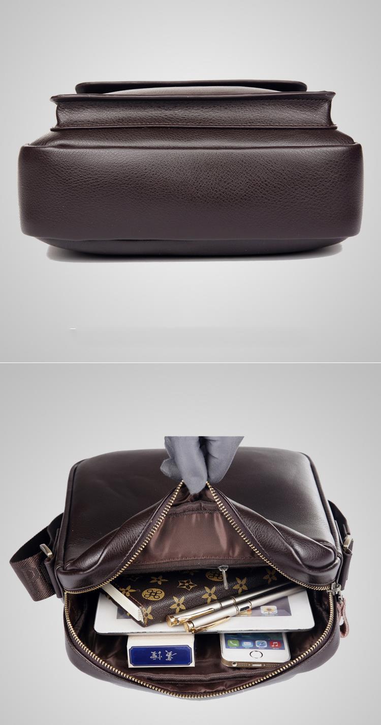 Lihtne õlakott pruuni või musta värvi