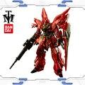 Bandai genuína RG 1/144 Anime modelo figura de ação Do Robô montado gunpla HG Gundam MSN-06S Sinanju hot kids brinquedos presente De Natal