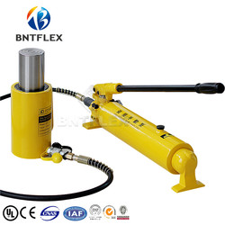 (100T przemieszcza się 50mm) podnośnik hydrauliczny + CP700 2 ręczne hydrauliczne pompy w Narzędzia hydrauliczne od Narzędzia na