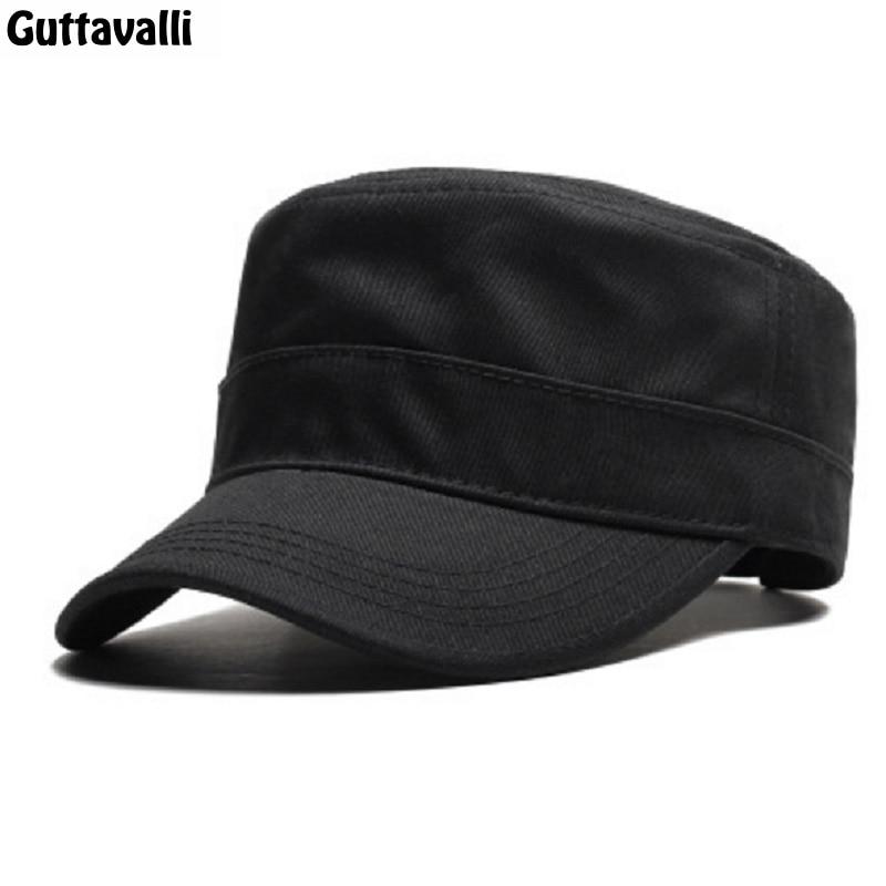 Guttavalli Fahion Solid Cotton Military Cap Women Sun Hats Soft Charm Popular Sunscreen Men Outdoor Fashion Adjustable Soft Caps