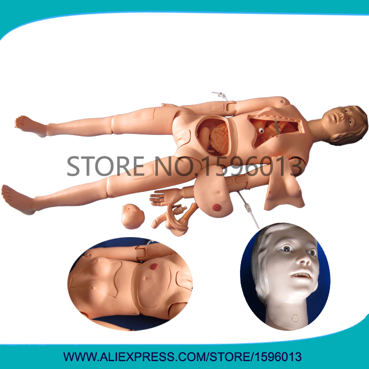 High Quality Female Nursing Training Manikin, Full Body Nursing Dummy