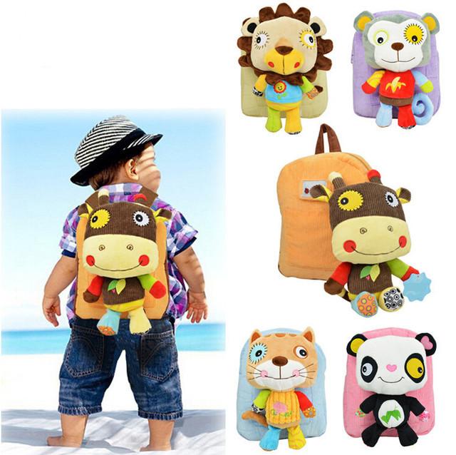 Sozzy brinquedos presentes das crianças mini brinquedo de pelúcia mochila Crianças dos desenhos animados da menina do menino do bebê do jardim de infância sacos de estudante linda Mochila