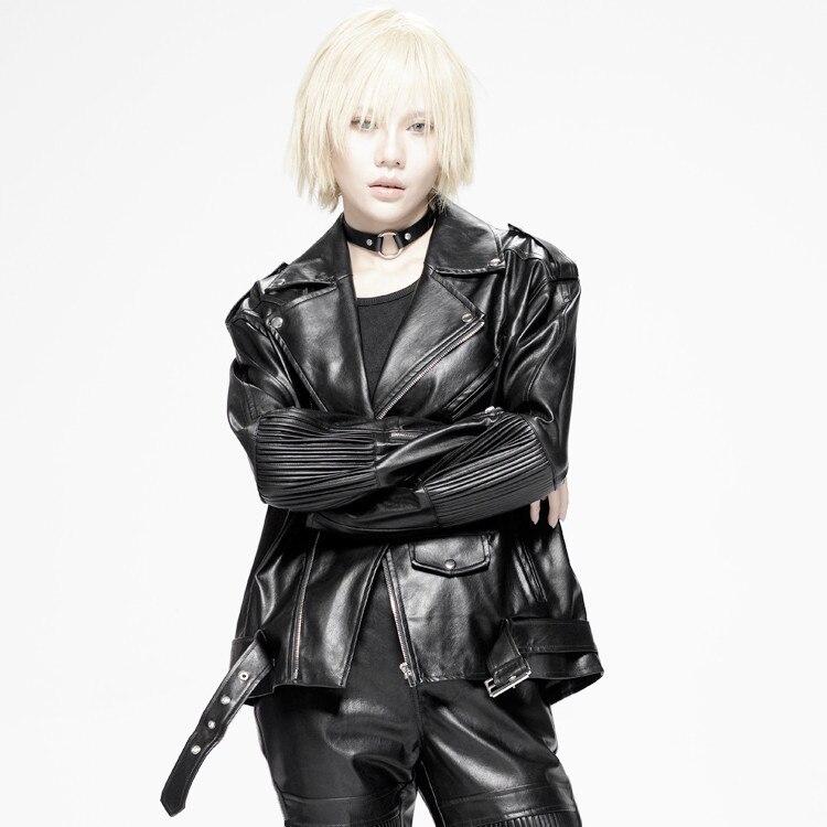 Chaqueta Lx2594 L'usure Moto À Femmes Noir Style Manteau Faux En Mujer Nouveau 2018 Pu Cuir Veste Mode Black Cuero Couple xWZwU