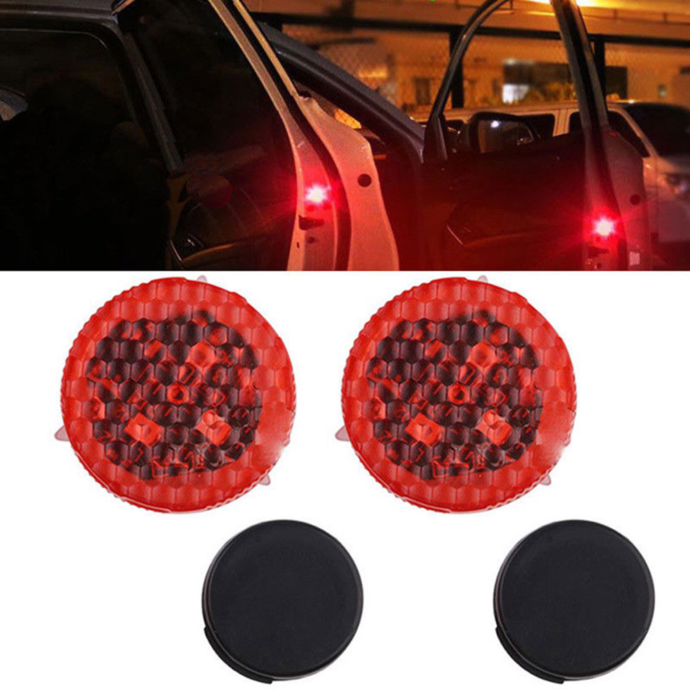 2pcs Universal Car Door Opened Warning Light Wireless anti-collid Flash Light