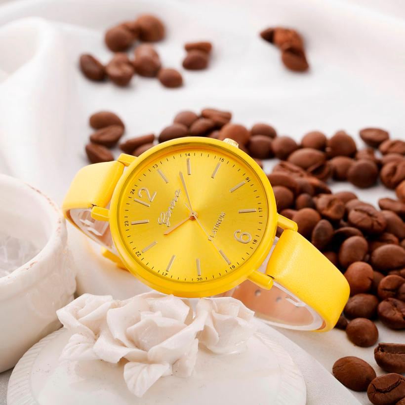 Luxury brand Simple Women watches 2018 New fashion Casual Faux Leather Quartz women Wrist Watch relogio feminino Gift 2018 #C HTB1pVR7j0cnBKNjSZR0q6AFqFXav